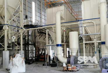 CaCO3 Grinding By SCM1000H Mill For Plastics, Painting