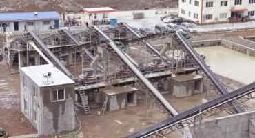 300TPH River Pebble Crushing Sand Production Line