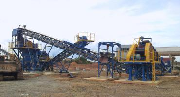 50TPH Construction Waste Recycling Production Line